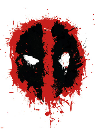 Deadpool symbol abstract poster art