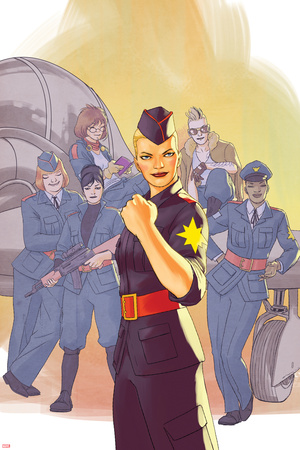 Captain Marvel & The Carol Corps 1 Cover Posters by David Lopez