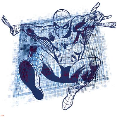 Marvel Comics Retro Badge Featuring Spider-Man Prints