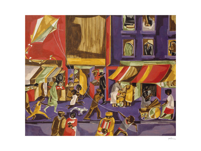 Street Scene (Boy with Kite), 1962 Poster by Jacob Lawrence