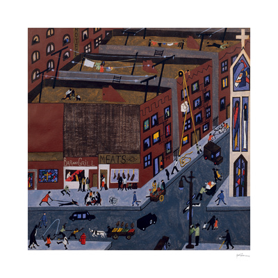Harlem Street Scene, 1942 Posters by Jacob Lawrence