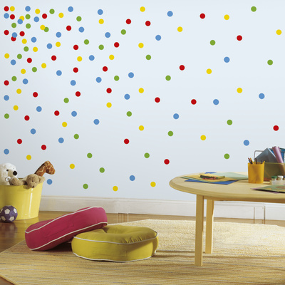 Primary Confetti Dots Peel And Stick Wall Decals Wall Decal