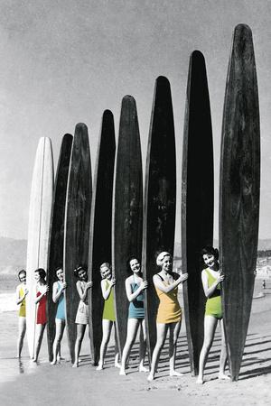 Surfin' Gals - Colour Pop Gicléedruk van  The Chelsea Collection
