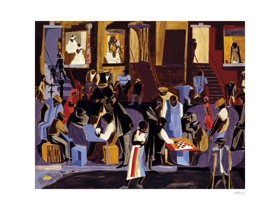 Street Shadows, 1959 Art by Jacob Lawrence