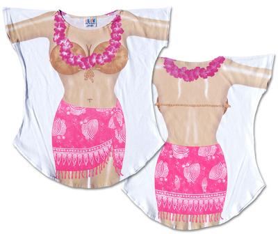 Hot Pink Sarong Cover-Up T-shirts