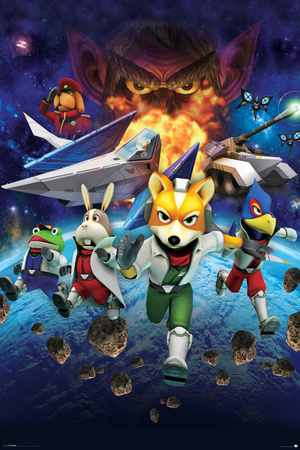 Star Fox 64- Charging Characters Posters