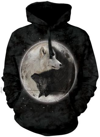 Hoodie: Yin Yang Wolves Pullover Hoodie