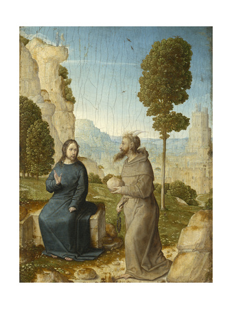 Temptation of Christ in the Wilderness, c.1500-4 Giclee Print by Juan de Flandes