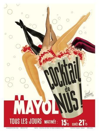 Cocktail de Nus! (Cocktail of Nudes!) - Concert Mayol Cabaret - Paris, France Posters by René Lefebvre