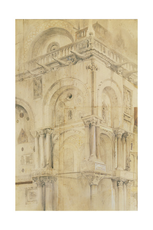 The North-West Angle of the Facade of St Mark'S, Venice Giclee Print by John Ruskin
