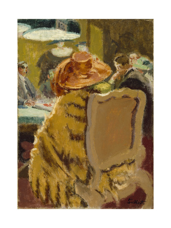 Baccarat - the Fur Cape Giclee Print by Walter Richard Sickert