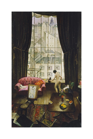 A Studio in Montparnasse Giclee Print by Christopher Richard Wynne Nevinson