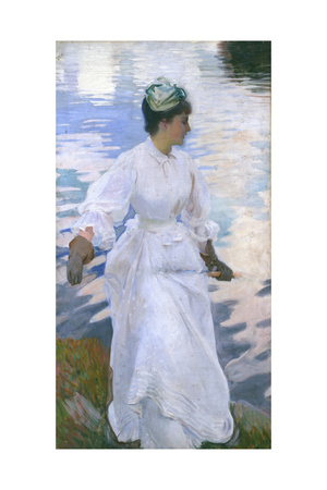 Lady Fishing - Mrs Ormond Giclee Print by John Singer Sargent
