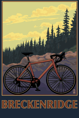 Breckenridge, Colorado – Mountain Bike Plastic Sign by  Lantern Press