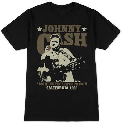 Johnny Cash- San Quentin Stars T-Shirt