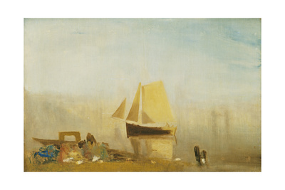 A Sail Boat at Rouen Giclee Print by Joseph Mallord William Turner
