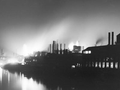 Iron Mills at Night, Pittsburgh, Pa. Photo