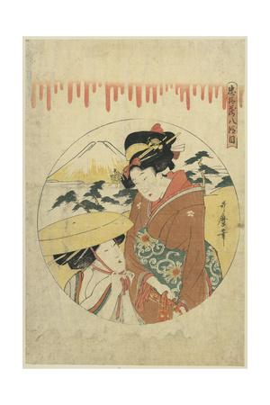A Lady's Discussion Prints by Kitagawa Utamaro