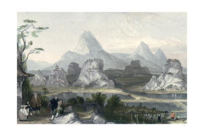 Seven Star Mountains Posters by Thomas Allom