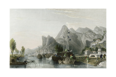 Western Seared Hills Prints by Thomas Allom