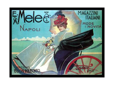 Carriage Ride by the Shore Prints by Aleardo Villa