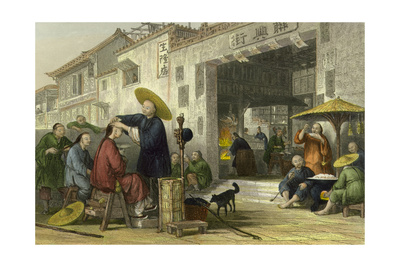 Itinerant Barber Posters by Thomas Allom