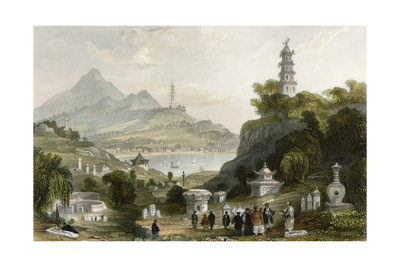 Temple Thundering Winds Poster by Thomas Allom