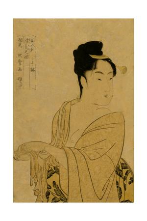 Flirtatious Lover Posters by Kitagawa Utamaro