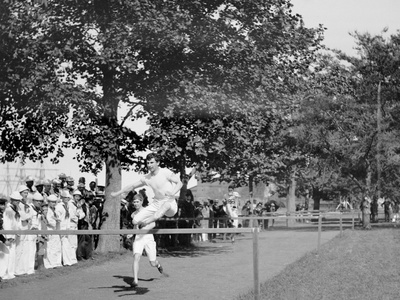 A Hurdle Race, U.S. Naval Academy Field Day Photo