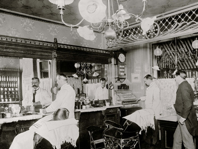 L.C. Wiseman, Barber Shop, New York City Photo