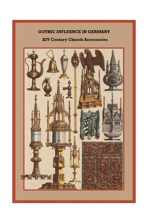 Gothic Influence in Germany XVI Century Church Accessories Poster by Friedrich Hottenroth