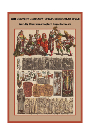 Xii Century, Germany Secular Style - Diversions Capture Royal Interests Prints by Friedrich Hottenroth