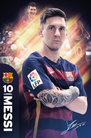 Barcelona- Messi 15/16 Plakat