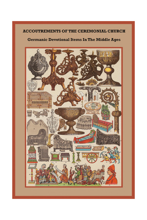 Germanic Devotional Items in the Middle Ages Print by Friedrich Hottenroth