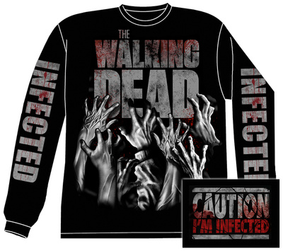 Long Sleeve: The Walking Dead- Infected Hands (Front/Back) Long Sleeves