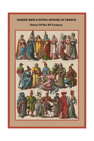 Peaked Hats and Young Suitors of France - Outset of the XV Century Art by Friedrich Hottenroth