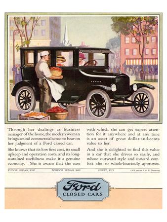 1924 Model T - Closed Cars Art