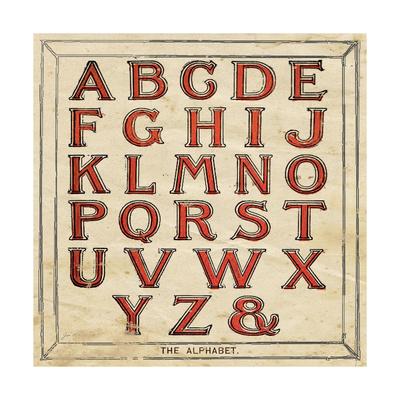 Alphabet Print by Jo Moulton
