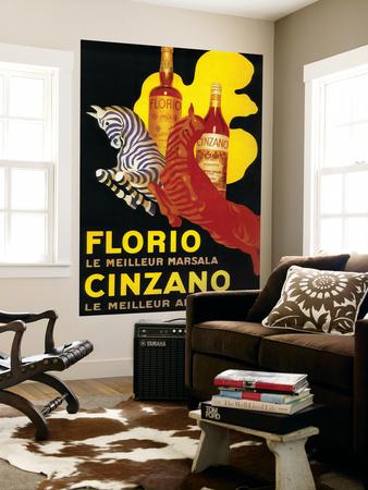 Florio Cinzano Vintage Poster - Europe Wall Mural by  Lantern Press