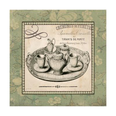 Vintage Green Tea Set Posters by Jo Moulton