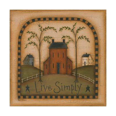 Live Simply Prints by Kim Lewis