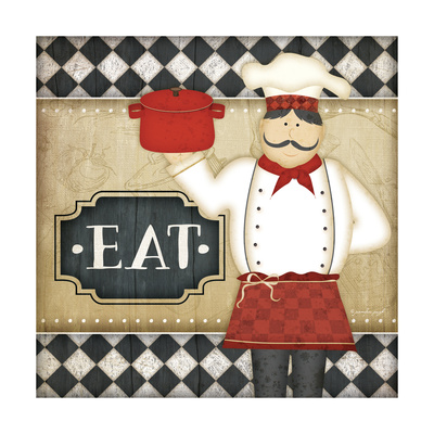 Bistro Chef Eat Posters by Jennifer Pugh