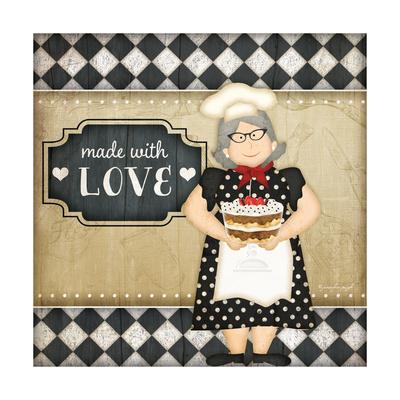 Bistro Chef Love Prints by Jennifer Pugh