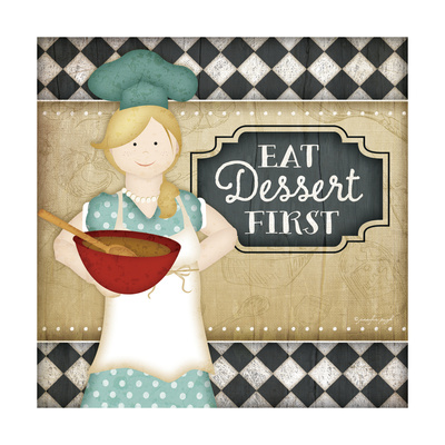 Bistro Chef Dessert Posters by Jennifer Pugh