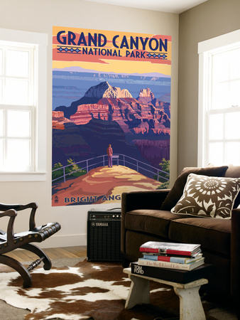 Grand Canyon National Park - Bright Angel Point Wall Mural by  Lantern Press