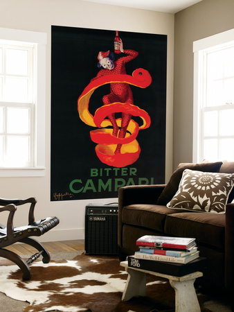 Bitter Campari Vintage Poster - Europe Wall Mural by  Lantern Press