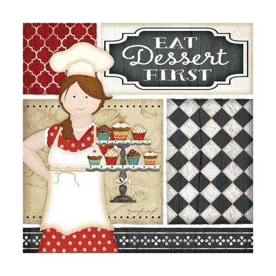 Bistro Chef Prints by Jennifer Pugh