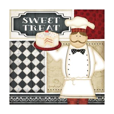 Bistro Chef 3 Print by Jennifer Pugh