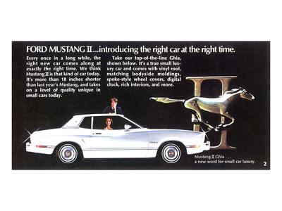 1974 Mustang II - Right Car Art