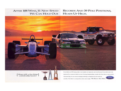 1996 Mustang-After 108 Wins Poster